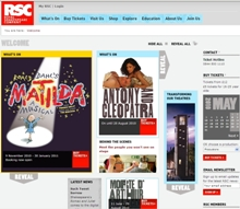RSC Royal Shakespeare Company Website