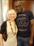 RSC Friends Organiser Yvonne with Andrew French form the Julius Caesar Company
